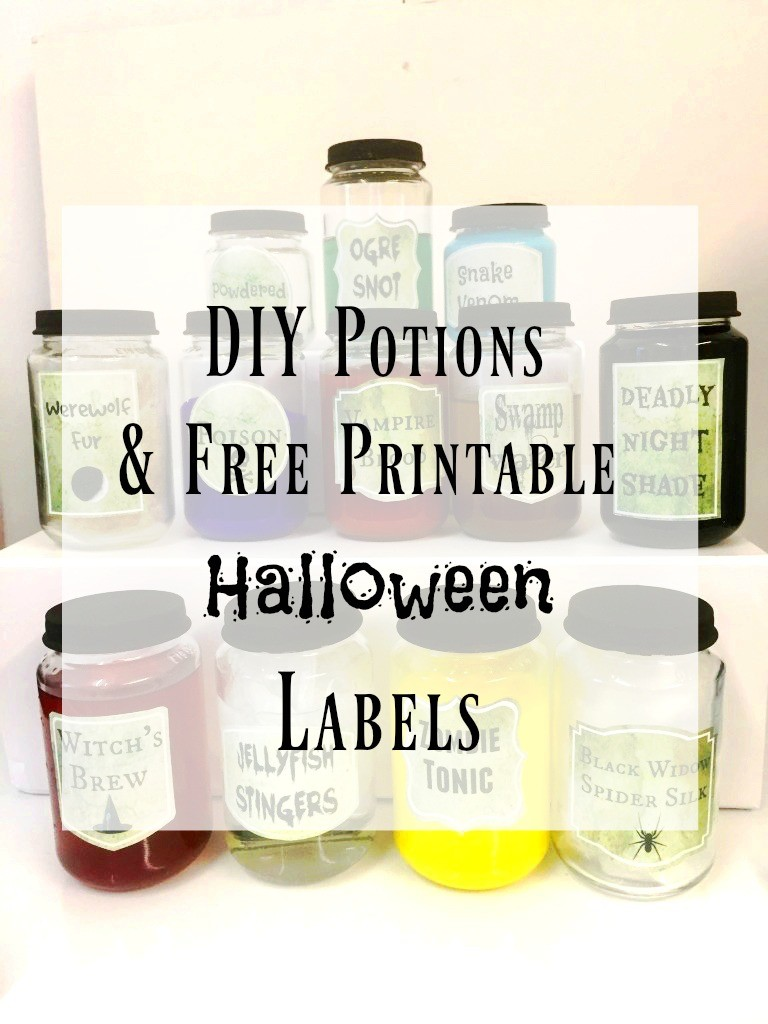 photograph relating to Printable Potion Labels identified as Printable Halloween Potion Labels
